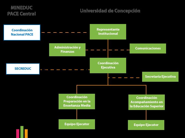 Imagen organigrama PACE-UdeC