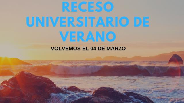 RECESO DE VERANO